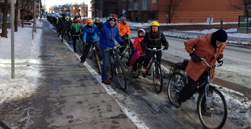 winter bike parade