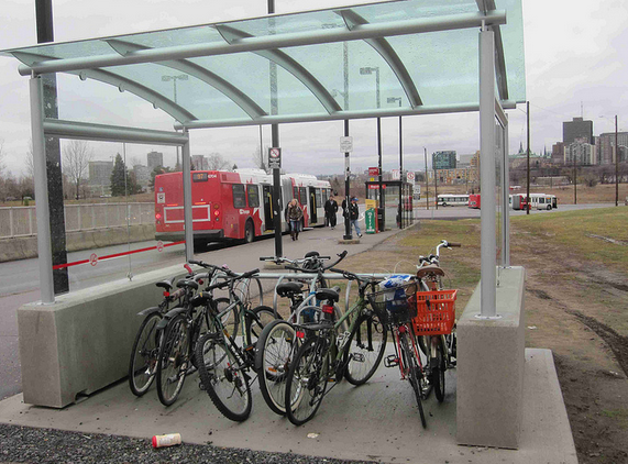 Sheltered transit parking. Photo by Hans Moor.