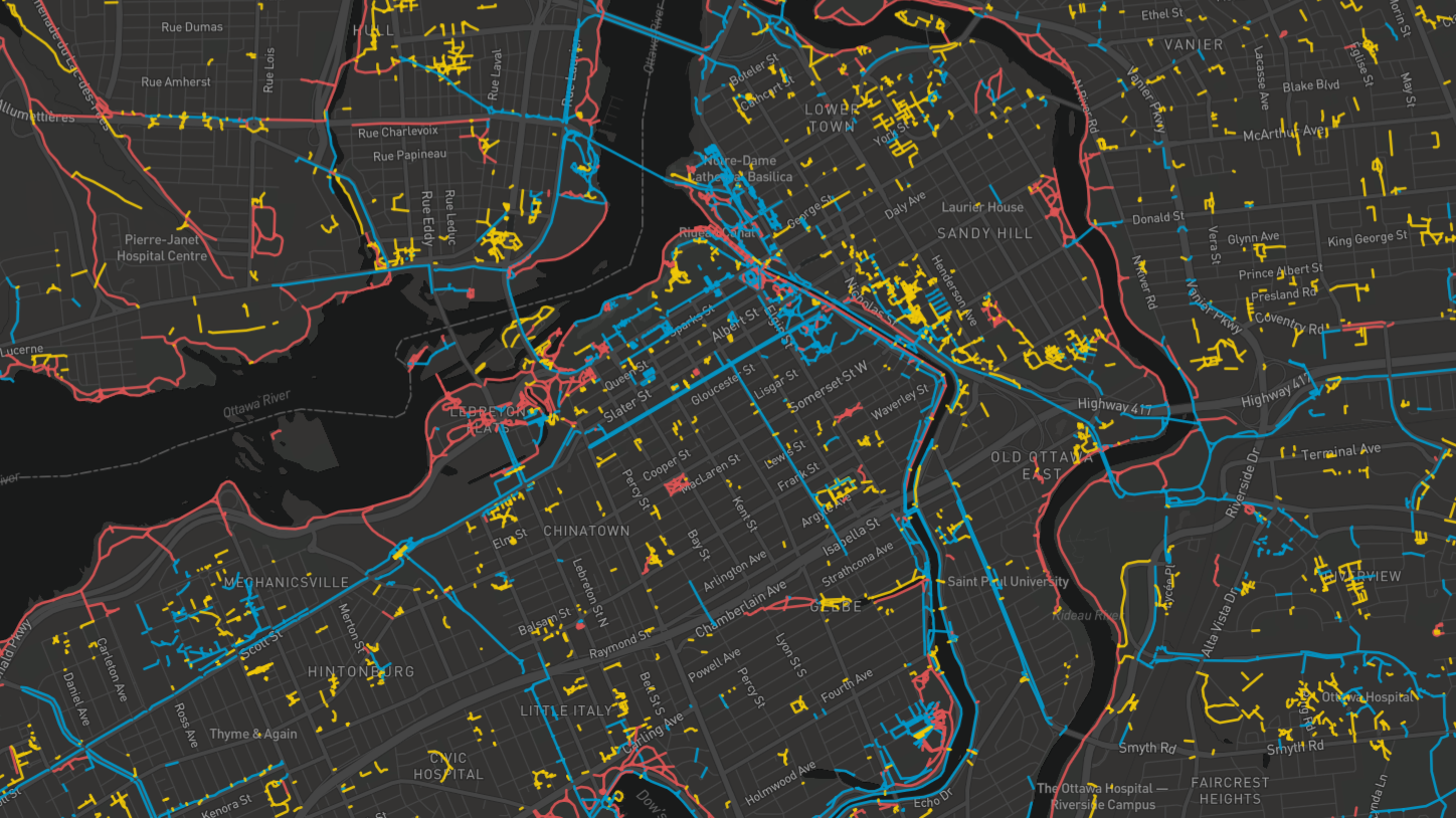 Bike Ottawa winter clearance map