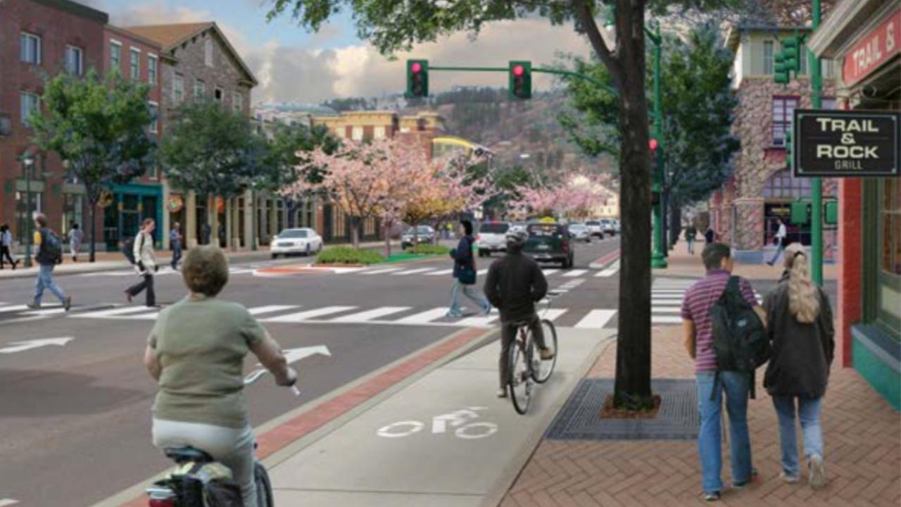 Complete street rendering