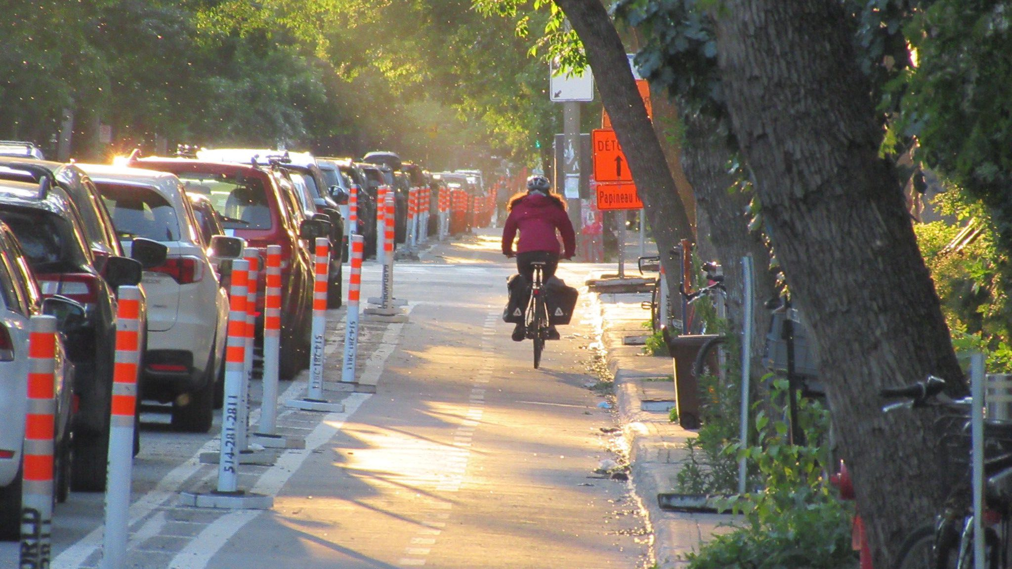 Montreal temporary cycling infrastructure